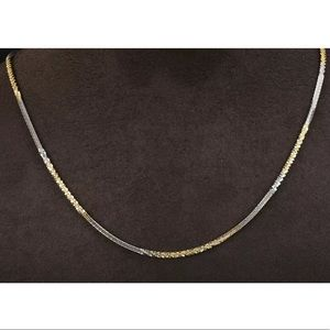 Modern Ottoman Italian Style Solid Silver Necklace